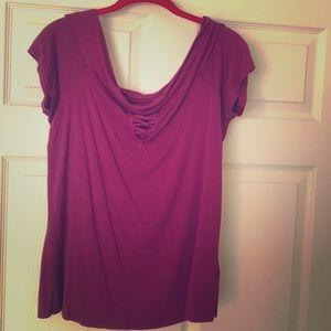 Off the shoulder Magenta blouse